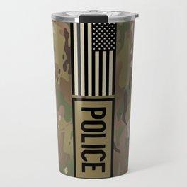 Police: Woodland Camouflage Travel Mug