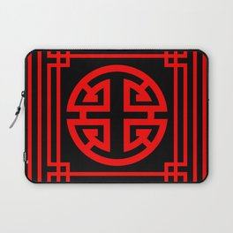PATTERN ART08-1-Red Laptop Sleeve