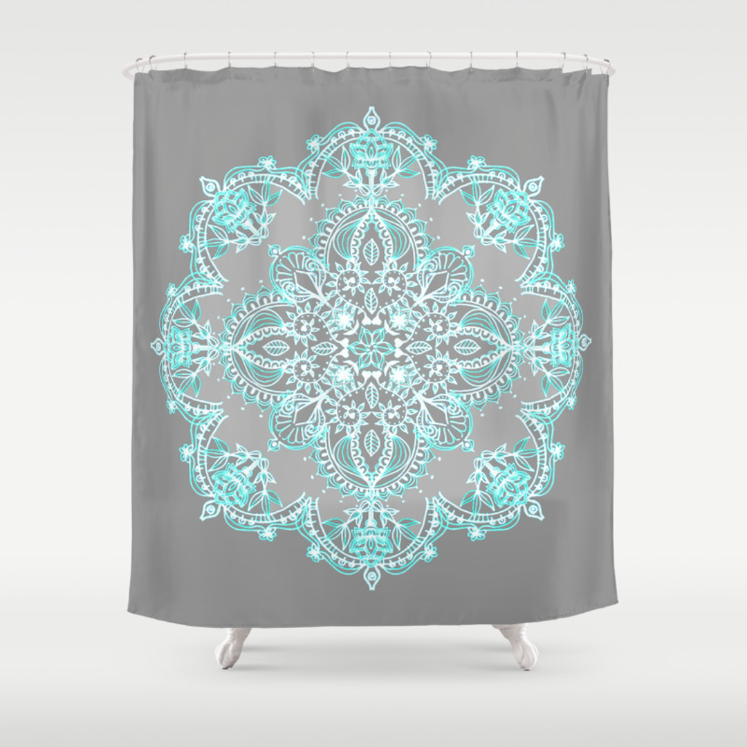 aqua and grey shower curtain intelligent design ana puckering  - abstract graphicdesign and vintage shower curtains society aqua and greyshower curtaincloth shower curtains ho novelty