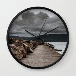 Long Solid Wharf Wall Clock