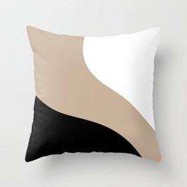 Simple Waves -Black & White Throw Pillow