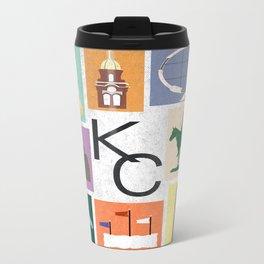 Kansas City Landmark Print Travel Mug