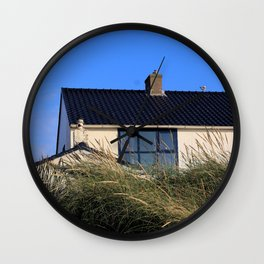 house in the dunes Wall Clock