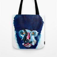 werewolf Tote Bags featuring werewolf by Alvaro Tapia Hidalgo
