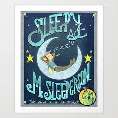 Sleepy McSleeperson Art Print