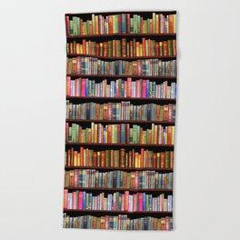 Book Lovers Gifts, Antique bookshelf Beach Towel