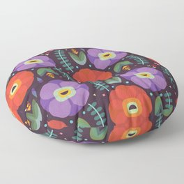 Flowerfully Folk Floor Pillow