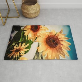 Butter colored sunflowers Rug