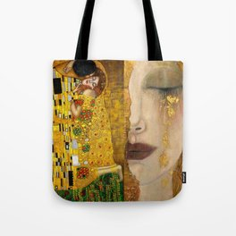 Gustav Klimt portrait The Kiss & The Golden Tears (Freya's Tears) No. 1 Tote Bag