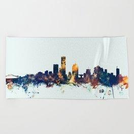 Milwaukee Wisconsin Skyline Beach Towel