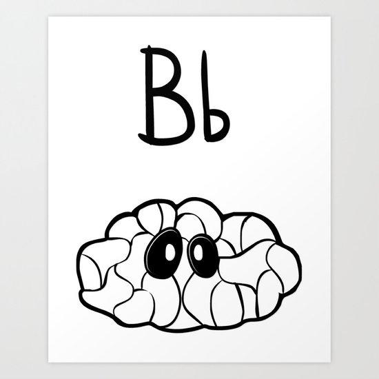 B is for Brain Art Print
