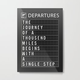 Departure Board Metal Print