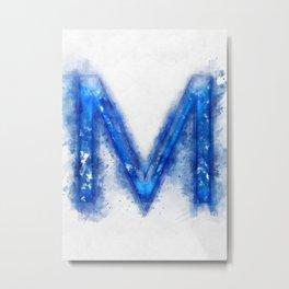 M Letter Metal Print