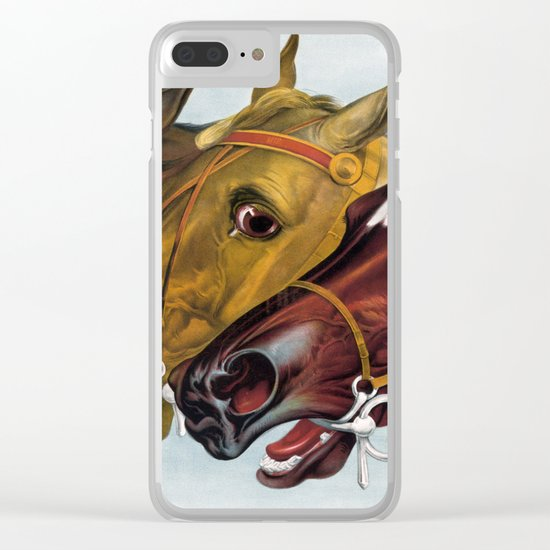Horse head portraits Clear iPhone Case