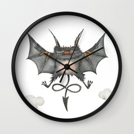 Flying little cute devil Wall Clock
