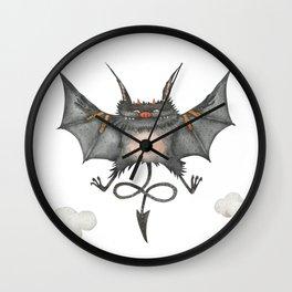Flying little cute devil Wall Clock