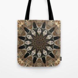 Mandala black Star Tote Bag