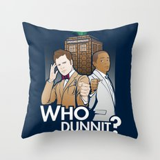 Who Dunnit? Throw Pillow