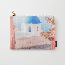Santorini Greece Pink Old Street Travel photography Carry-All Pouch