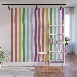 LGBTQ Rainbow Flag Cabana Stripes Wall Mural