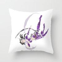 kate bishop Throw Pillows featuring Kate Bishop  by Tegan New