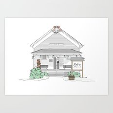 Shelby's Schoolhouse Art Print