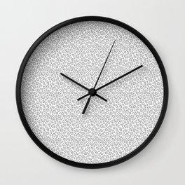 Grey Leopard Print Wall Clock