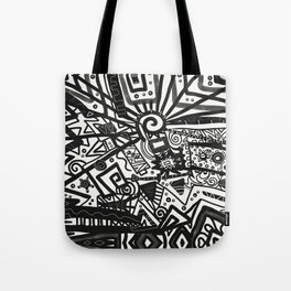 Black and White Maze Tote Bag