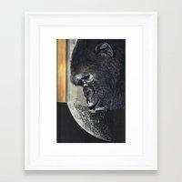 gorilla Framed Art Prints featuring gorilla by Hugo Barros