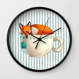 Fox Tea Wall Clock