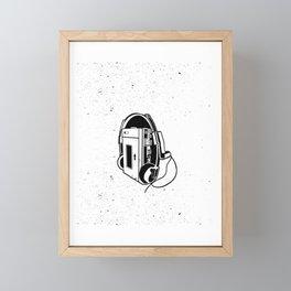 Old School Walkman Framed Mini Art Print