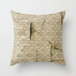 OLD WALLPAPER Throw Pillow