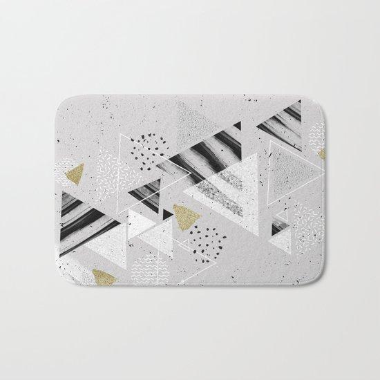 Geometric abstract triangles Bath Mat