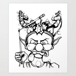 Grumpy Elf Art Print