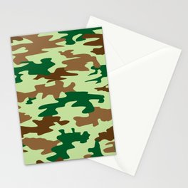 Camouflage Print Pattern - Greens & Browns Stationery Cards