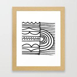 dream of morning Framed Art Print