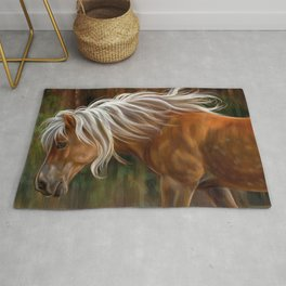 Beautiful Brown Horse With Blonde Mane Ultra HD Rug