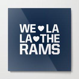Love Rams Metal Print