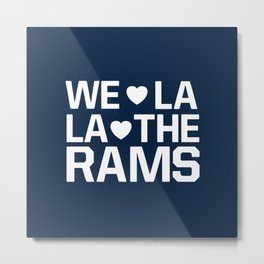 Love Rams Metal Print