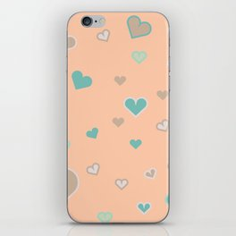 Love Mint and Peaches iPhone Skin