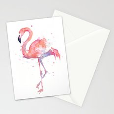 Flamingo Watercolor Stationery Cards