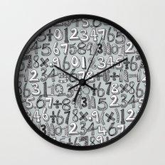 math doodle silver Wall Clock