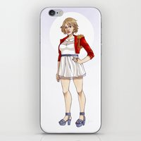 karen hallion iPhone & iPod Skins featuring Karen by Elizabeth Beals