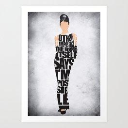9d657f7537 Audrey Hepburn Typography Poster Art Print