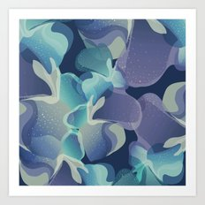 Micro Blue Art Print