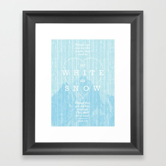 as white as snow Framed Art Print
