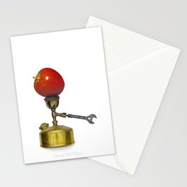 stove and apple. good old days. Stationery Cards