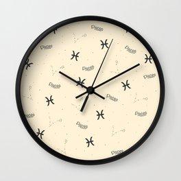 Pisces Pattern - Beige Wall Clock