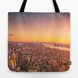 New York City Sunset Skyline Tote Bag
