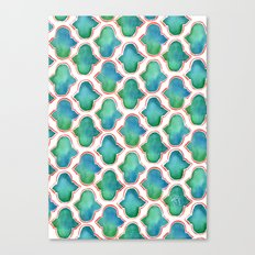 Blue/Green Moroccan Pattern Canvas Print